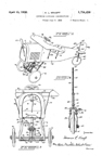 Kraeft patent for Pedal Car shaped like an airplane No. 1,754,430