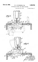 1946 Singer Cabinet Patent No. 2409758
