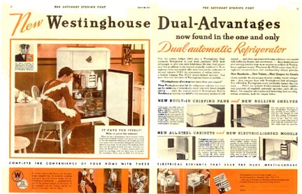 Westinghouse Ad Saturday Evening Post April 16, 1932
