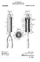 Patent for an Electric Curling Iron, No. 900,292