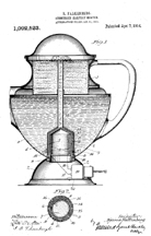 Patent for Submerged Heating in a Percolator, No. 1,092,523