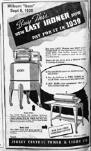 Ad for Easy Washers and Ironers 1938
