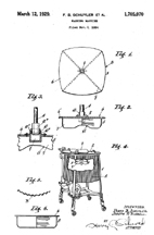 Johnson Washer Exterior Design Patent No. 1,705,070