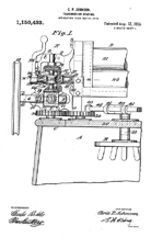 Johnson Washer Gearing Patent No. 1,150,433