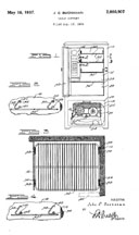 Norge Adjustable Shelves, patent No. 2,080,907