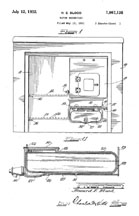 Howard Blood Design for a Cold Water Reservoir for the Norge Refrigerator, Patent No. 1,867,135