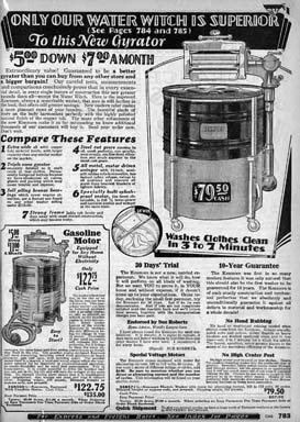 1929 ad for the Sears Water Witch Washer