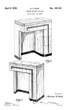 Art Deco Sewing machine Case Design Patent D - 109,150