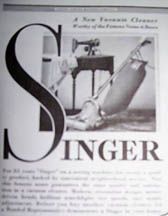 1932 Ad for the Singer Vacuum Cleaner