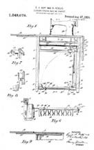 1920 Singer Cabinet Patent No. 1349678