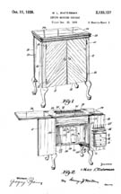 1938 Singer Cabinet Patent No. 2133127