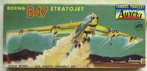 Aurora plastic model kit for the  B-47 Stratojet box art by Jo Kotula