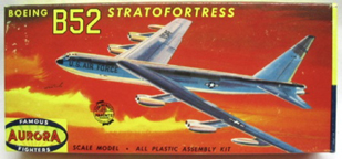 Aurora plastic model kit for the Boeing B-52 Stratofortress  box art by Jo Kotula