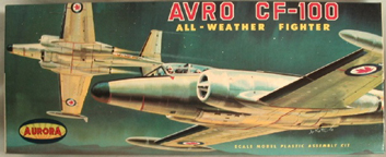 Aurora plastic model kit for the AVRO CF-100 Canuck box art by Jo Kotula