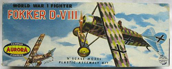 Aurora plastic model kit for the Fokker D. VIII box art by Jo Kotula