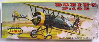 Aurora plastic model kit for the Boeing P-12E box art by Jo Kotula