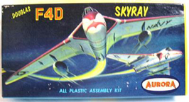 Aurora plastic model kit for the Douglas F4D Skyray box art by Jo Kotula