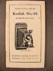 Kodak Six-16 Camera -instruction book