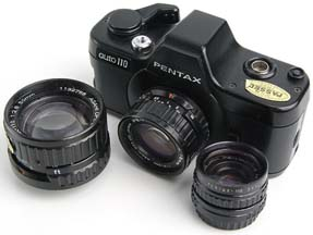 Pentax Auto 110 with lenses