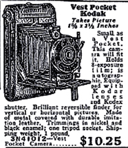 1930 Sears Catalogue Ad for the Kodak Vest Pocket Camera