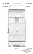 Teague Polaroid Camera Patent D-152,229
