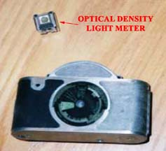 Univex Mercury, Back View with Optical Density Light Meter