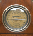 Silvertone (Sears)  M-1808 Table  Radio ca 1934 - closeup of dial