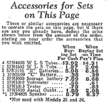 1929 Sears Catalogue Radio Ads for Radio Accessories