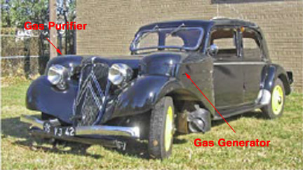 Gazogene Powered Citroen Traction Avant
