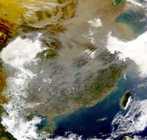 Satellite Picture of China's Atmosphere