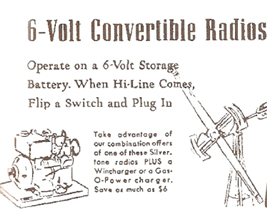 Sears Ad for Convertible Radios