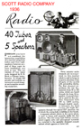 Ad for 40 tube radio Popular Mechanics, September 1936