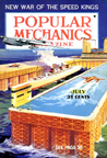 Floating seaport-airport Popular Mechanics July, 1937