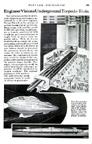 Underground topedo trains April 1939 issue of Popular Mechanics