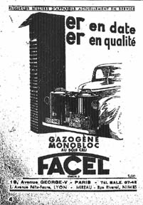 Gazogene Advertisement - Facel