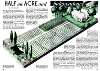 Half Acre Subsistence farming Popular mechanics September 1935