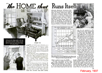 Home that runs itself Popular Mechanics  February 1937