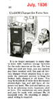 Kerosene powered battery charger Popular mechanics July 1936