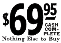 Full Cost disclosure in Sears Catalogue Radio Ads 1929-1939