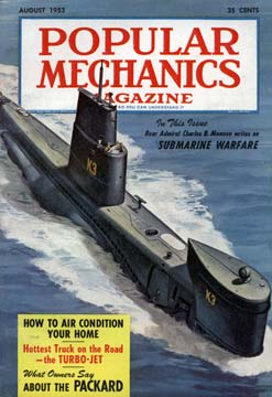 Popular Mechanics August 1953 Cover