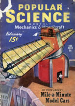 February, 1940 Cover of Popular Science