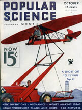 Popular Science October 1933 cover