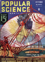 October, 1934 Cover of Popular Science