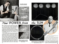 Power from the su - Popular mechanics october, 1936