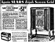 1931 Sears Catalogue Ad for the Silvertone M-1535  Radio
