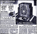 1934 Sears Catalogue Ad for the M-1808  Radio