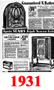 Sears Catalogue Radio Ads for 1931
