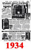 Sears Catalogue Radio Ads for 1934