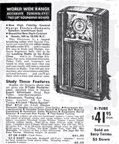 1937 Sears Catalogue Ad for the M-4485 Silvertone Console  Radio