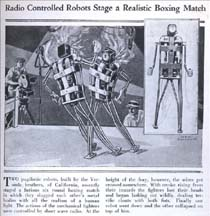 Modern Mechanix Article on Boxing Robots